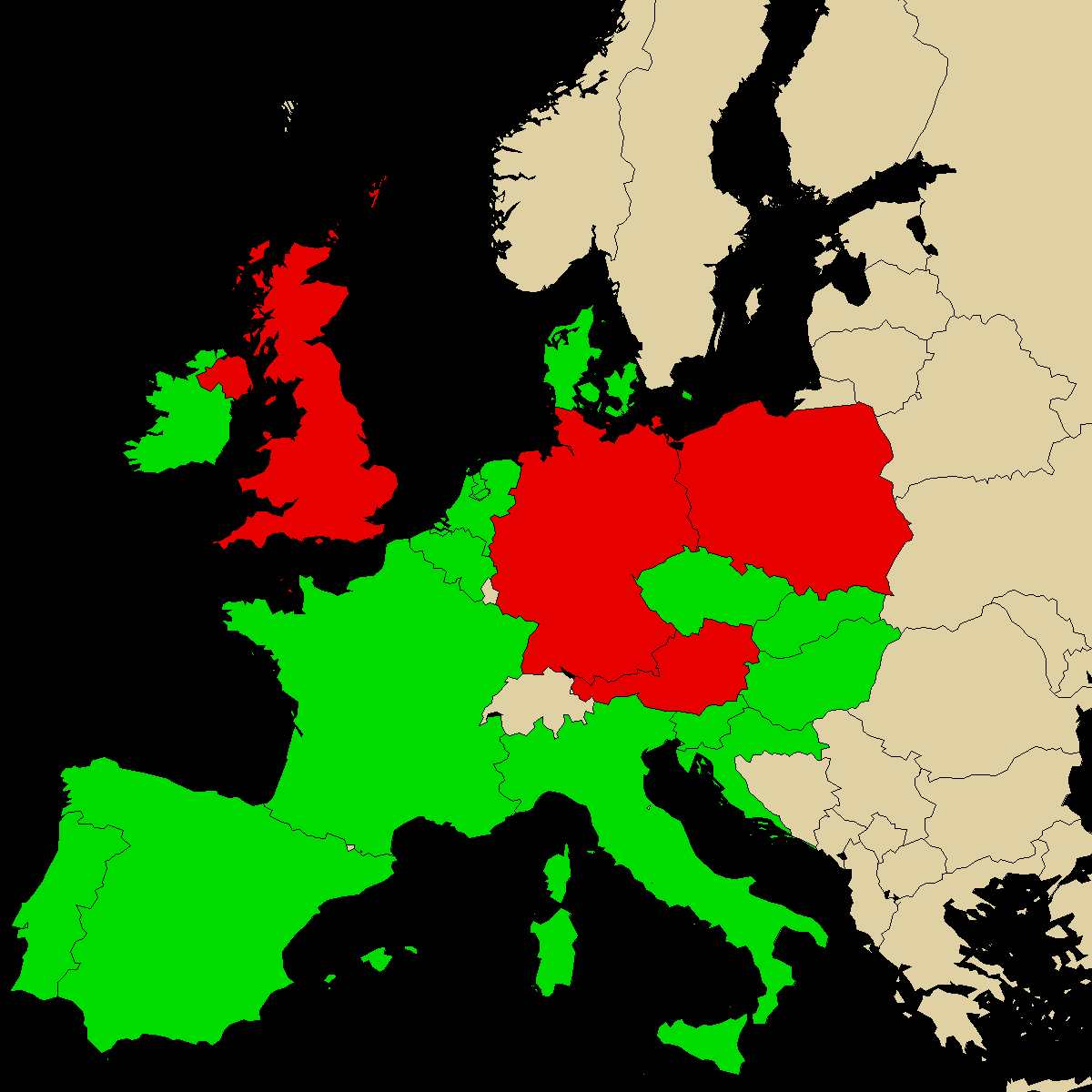 legal info map for our product Mephedrene, green are countries with no ban, red with ban, grey is unknown