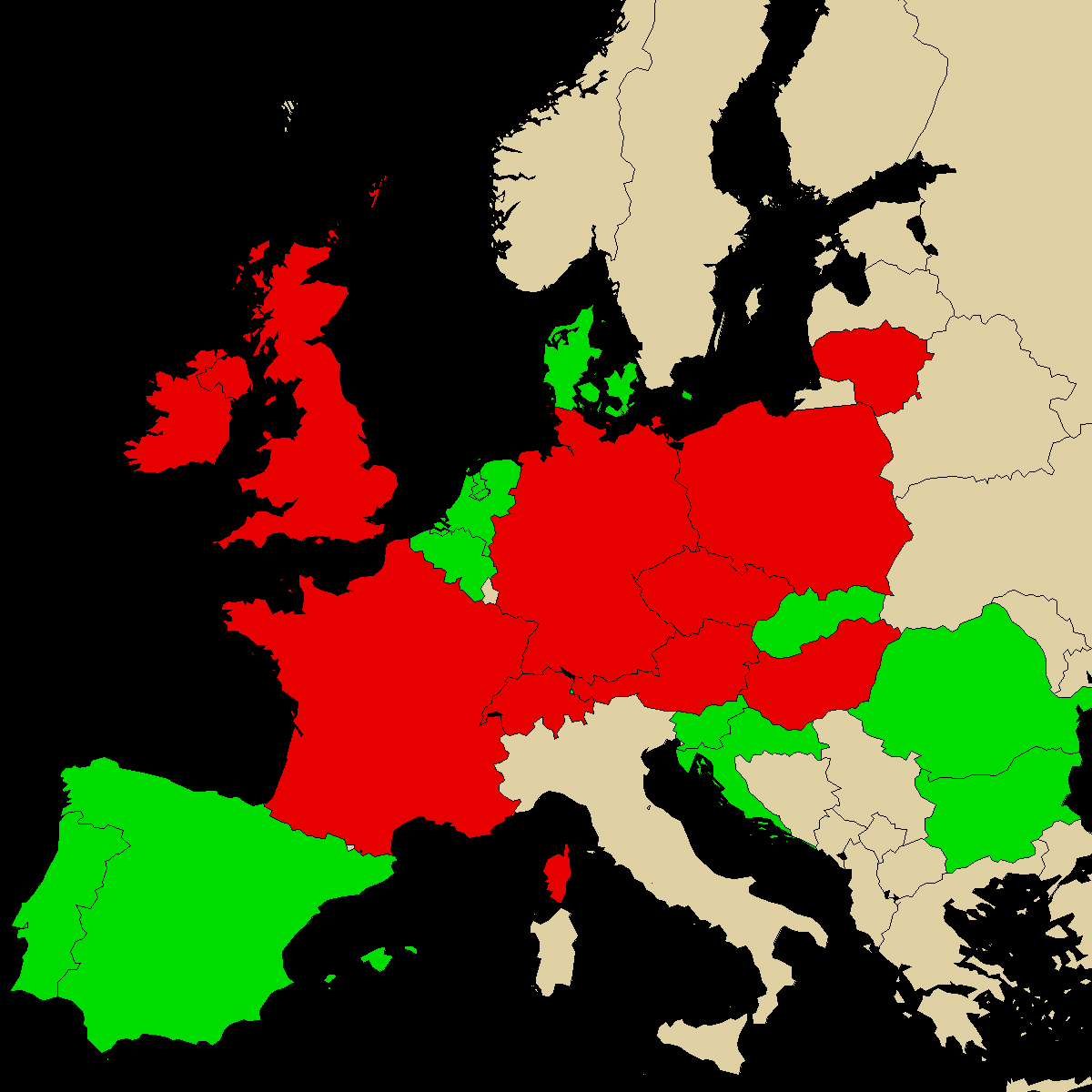 legal info map for our product a-PiHP, green are countries with no ban, red with ban, grey is unknown