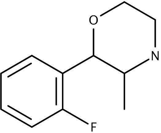 Chemical structure of 2FPM