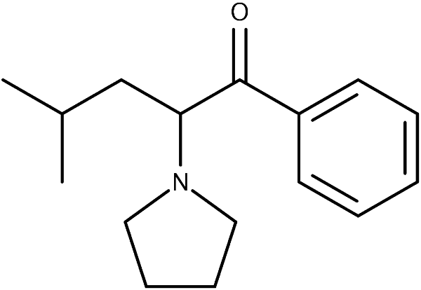 Chemical structure of a-PiHP