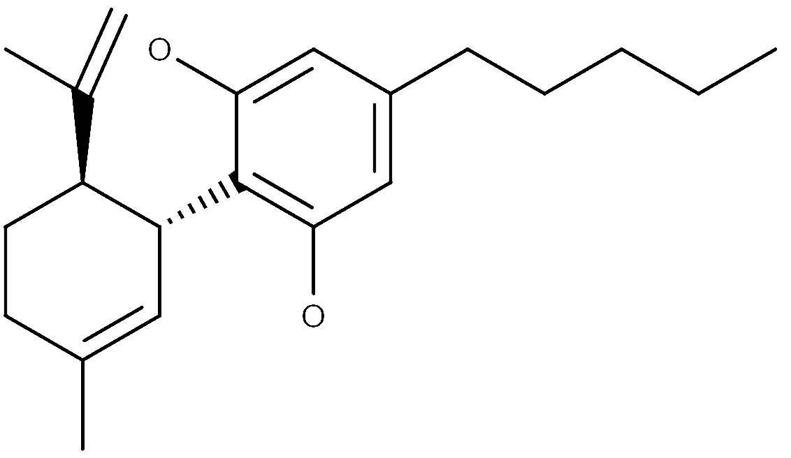 Chemical structure of CBD