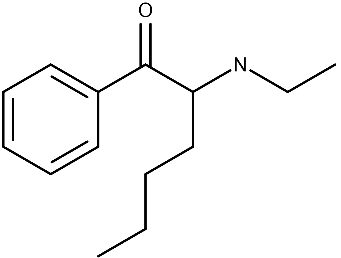 Chemical structure of hex-en